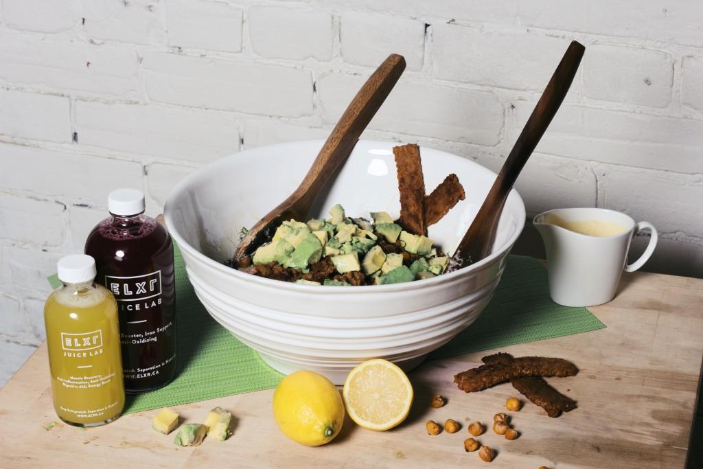 Kale, Salad, Avocado, Tempeh, Soy